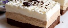 Řezy Caffé latté Sweet Desserts, Sweet Recipes, Cake Recipes, Dessert Recipes, Slovak Recipes, Czech Recipes, European Dishes, Toffee Bars, Mini Cheesecakes