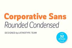 Corporative Sans Rd Cnd by Latinotype on @creativemarket