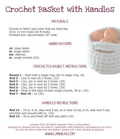 free crochet basket pattern...english and spanish version
