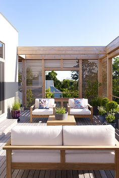 love this idea for deck privacy