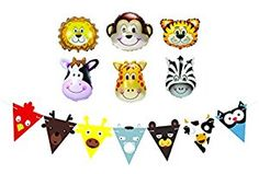 Amazon.com: Happy Birthday Balloons, Party Favors and Decorations for Kids Birthday Parties – Farm Animal Balloon and Banner Set – Jungle, Safari, and Zoo Birthday Party Supplies: Toys & Games