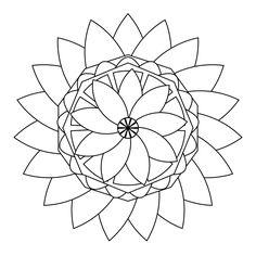 Free Coloring Page Mandala flower