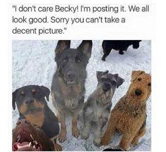 Sit, Becky...