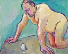 Maria Lassnig - The Biologist - oil on canvas - 100x125 cm - 2003@Parkett Art