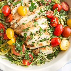 Grilled chicken tossed with pasta noodles and zucchini zoodles make a quick and simple summertime meal. Homemade Taco Seasoning, Homemade Tacos, Easy Skillet Dinner, Grilled Chicken Pasta, Homemade Garlic Butter, Quick Weeknight Dinners, Pesto Pasta