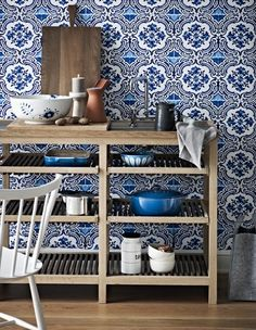 Kitchen blues - via Coco Lapine Design