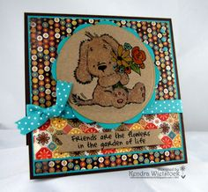 By: Kendra Wietstock; Crafter's Companion Stamps (Mulberry Woods - Friend)