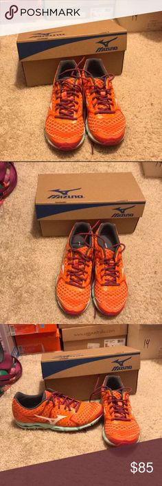 Mizuno Racing Sneaker Perfect condition mizuno racing sneakers. Perfect for running and training. Worn only once. Very comfy and so cute. Comes with box and reasonable offers are welcomed. Mizuno Shoes Sneakers