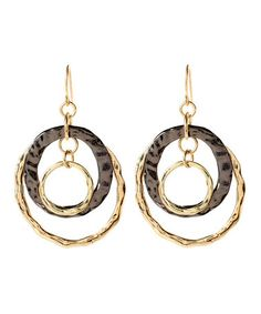 Take a look at this Gold & Gunmetal Amori Earrings by Amrita Singh on #zulily today!