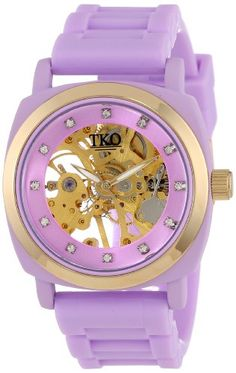 TKO ORLOGI Women's TK626VT Milano Violet Rubber Mechanical Movement Skeleton Watch TKO,  WOMEN'S WATCHES if you wish to buy just CLICK on AMAZON right HERE  http://www.amazon.com/dp/B008W2PUI0/ref=cm_sw_r_pi_dp_cI1Ssb0BKB4VSRFC