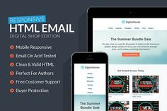 Digital Goods Responsive HTML Email by Creativenauts on @creativemarket