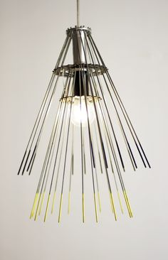 Hawaii Lamp - made entirely out of bicycle wheel parts! #Eco #furniture, #upcycled!