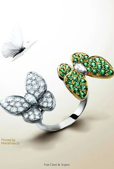 Jewerly drawing gold van cleef arpels Ideas for 2019 Van Cleef And Arpels Jewelry, Van Cleef Arpels, Funky Jewelry, Jewelry Accessories, Butterfly Jewelry, Butterfly Ring, Jewelry Design Drawing, Necklace Designs, Butterflies