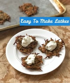 Avoid the splatter: oven-fry your latkes this year and try one of these five variations on this classic potato pancake. Side Recipes, Whole Food Recipes, Yummy Recipes, Healthy Recipes, Dinner Side Dishes, Potato Pancakes, Fruit In Season, Fries In The Oven, Popular Recipes