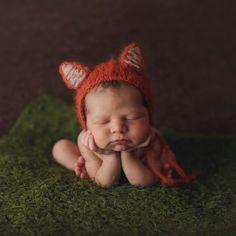 Newborn photography Soul Sisters baby fox