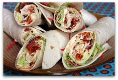 BLT Wraps. Easy Super Bowl food