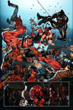 #Deadpool #Fan #Art. (Deadpool in: Thunderbolt-20-NOW-Preview-1) By: Reilly Brown. (THE * 5 * STÅR * ÅWARD * OF: * AW YEAH, IT'S MAJOR ÅWESOMENESS!!!™) [THANK U 4 PINNING!!!<·><]<©>ÅÅÅ+(OB4E)     https://s-media-cache-ak0.pinimg.com/474x/64/83/c5/6483c5d020da62646da10b6f7c794861.jpg