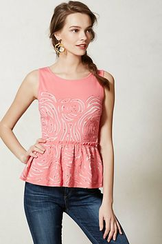 Everlasting Peplum Top #anthropologie  So cute!!  I might have to get this for Disney in April!!