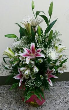 All lilies and mums