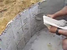 How to Make a Ferrocement Planter These videos show how to make ferrocement (aka ferrocrete) water tanks but the methods could be adapted to making planters. Glass Fence, Stone Fence, Brick Fence, Concrete Fence, Pallet Fence, Front Yard Fence, Farm Fence, Low Fence, Rustic Fence