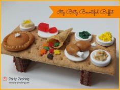 Thanksgiving dessert ideas, cute food, tiny food, thanksgiving for kids, thanksgiving dinner ideas, food for kids