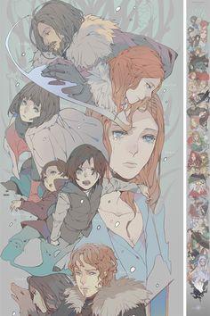 Game Of Throne – Une immense fresque façon Manga