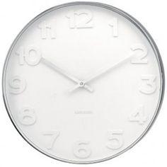 Karlsson Wall Clock Mr. White Station Clock
