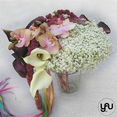 Buchet mireasa cale si orhidee _ BM38