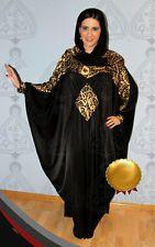 Women Muslim Maxi Dress Arabic calligraphy Long Sleeve Arab Abaya with a scarf