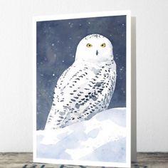 Snowy Owl Carte de Noël