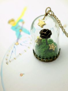 the little prince's rose necklace. story domes glass by plingstore, $45.00