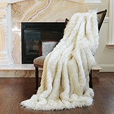 "Amazon.com: Best Home Fashion Iced Fox Faux Fur Throw Blanket - 58""W x 60""L: Home & Kitchen"