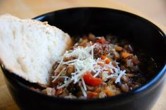 My very favorite sausage and lentil soup is at Carrabbas.  At a time that I lived no where near a Carrabas, I searched high and low for a r...