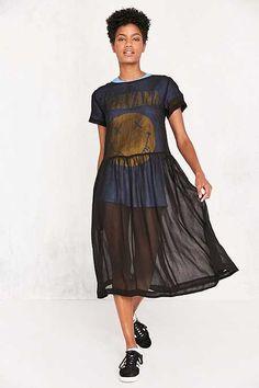 Kimchi Blue Sparrow Sheer Drop-Waist Midi Dress