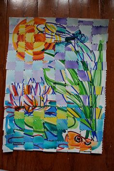 finished-project-permanent-markers-watercolors-cut-paper-weaving-kids-art-project