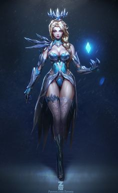 Elsa Dark Ice Queen, Paul Kwon on ArtStation at http://www.artstation.com/artwork/elsa-dark-ice-queen