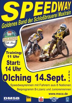 Speedway race at Olching, Germany