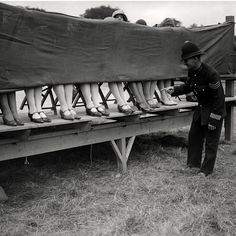 London Bobby judging a Beautiful Legs Contest, July 1930. ☚