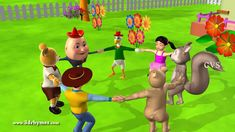 Ringa Ringa Roses - 2 ( Animals ) - 3D Animation English Nursery rhymes ...