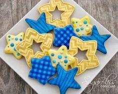 SugarBliss Cookies Iced Sugar Cookies, Star Cookies, Holiday Cookies, Cupcake Cookies, Cupcakes, Kinds Of Cookies, Cut Out Cookies, Cute Cookies, Best Cookies Ever