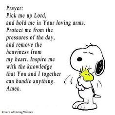 Snoopy-love and - Prayers for healing. Snoopy Love, Charlie Brown And Snoopy, Charlie Brown Quotes, Power Of Prayer, My Prayer, Snoopy Quotes, Peanuts Quotes, Beautiful Prayers, Prayers For Healing