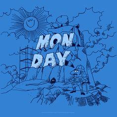 さて月曜日が始まるよ〜。いずれ火曜日も始まるだろうけど まずは月曜日から。