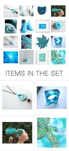 """""""Blue Collection 7:15"""" by crystalglowdesign ❤ liked on Polyvore featuring art"""