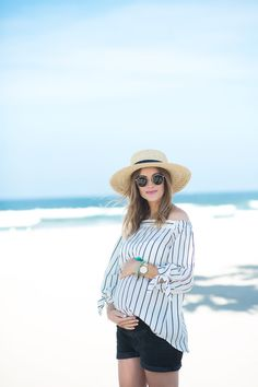 Navy Grace Blog by Camilla Thurman // A Fashion and Lifestyle blog: From Beach to Dinner (Maternity Style)