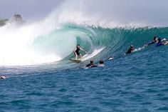 Surfing at plengkung Beach - East Java