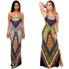 Buy African Traditional Clothing Womem Print Dashiki Dress High Split Strap Plus Size Boho Dress Hot Sale at Wish - Shopping Made Fun African Dresses For Women, Casual Dresses For Women, Clothes For Women, Dress Casual, Dashiki Dress, Dashiki Clothing, Beachwear For Women, Ethnic Fashion, Net Fashion