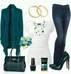 Great office wear for casual day, except for the heals. I would have to go with flats ;)
