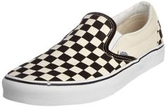 awesome Vans Classic Slip-On - Mocasines unisex, color blanco (white and black checker/white), talla 44