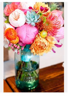 The most beautiful flower arrangement EVER!!!  My inspiration for my house make over... happy, joyful, and full of life!