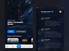 Audiobooks App: Dark Theme by Tom Koszyk Ios App Design, Mobile Ui Design, Web Ui Design, Ui Design Inspiration, Mobile Application, User Interface, Audiobooks, Ui Ux, Dark